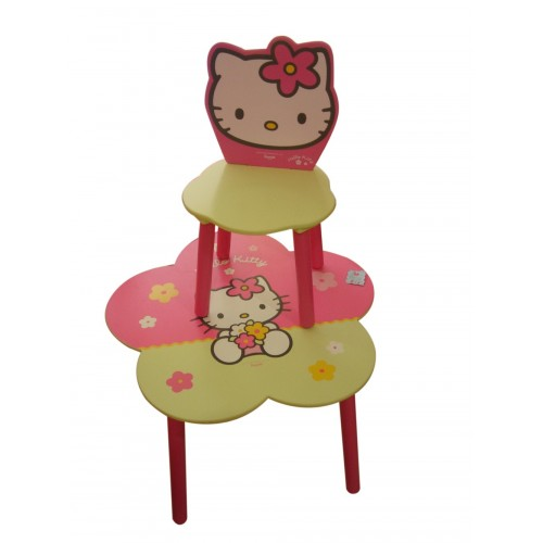 table bois hello kitty. Black Bedroom Furniture Sets. Home Design Ideas